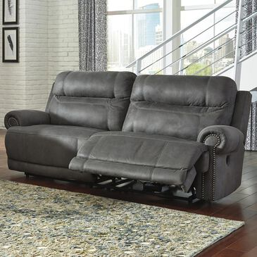 Signature Design by Ashley Austere Reclining Power Sofa in Gray, , large