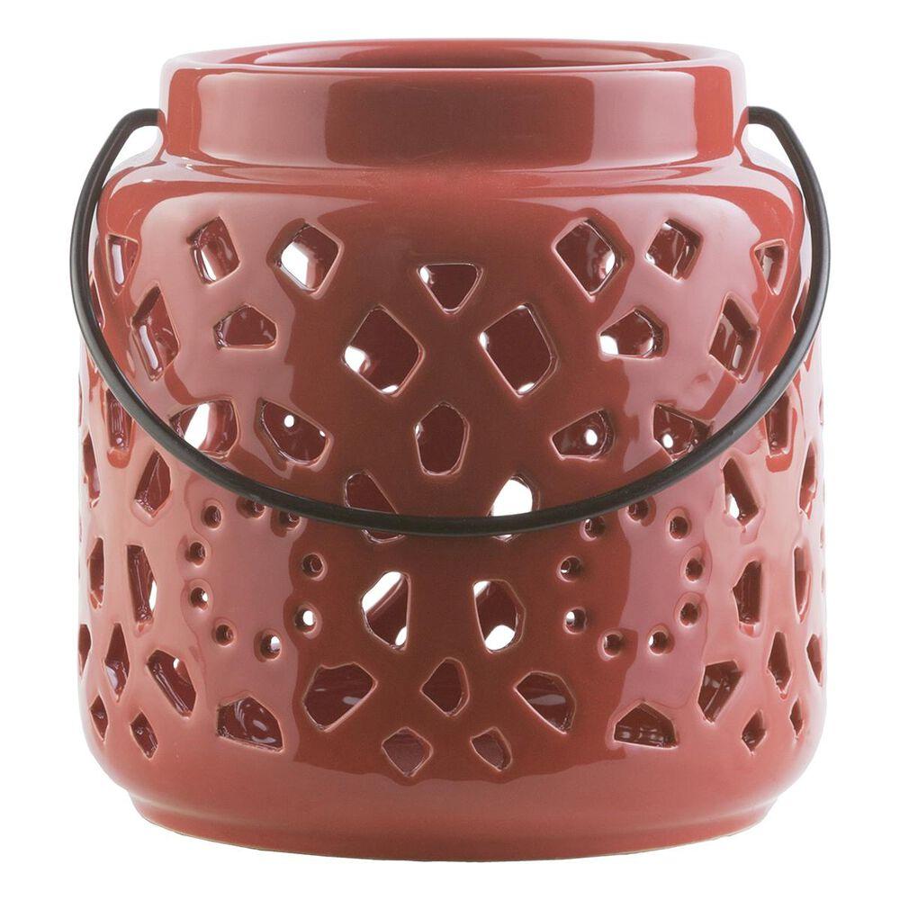 Surya Inc Avery Ceramic Lantern  in Poppy -  6.5''H, , large