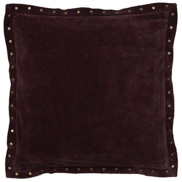 "Rizzy Home 18"" x 18"" Down Pillow in Solid Dark Red, , large"