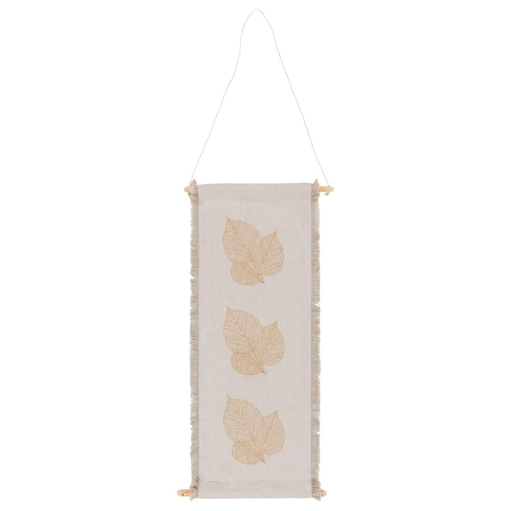 Surya Inc Leaves Wall Hanging in Ivory/Wheat, , large