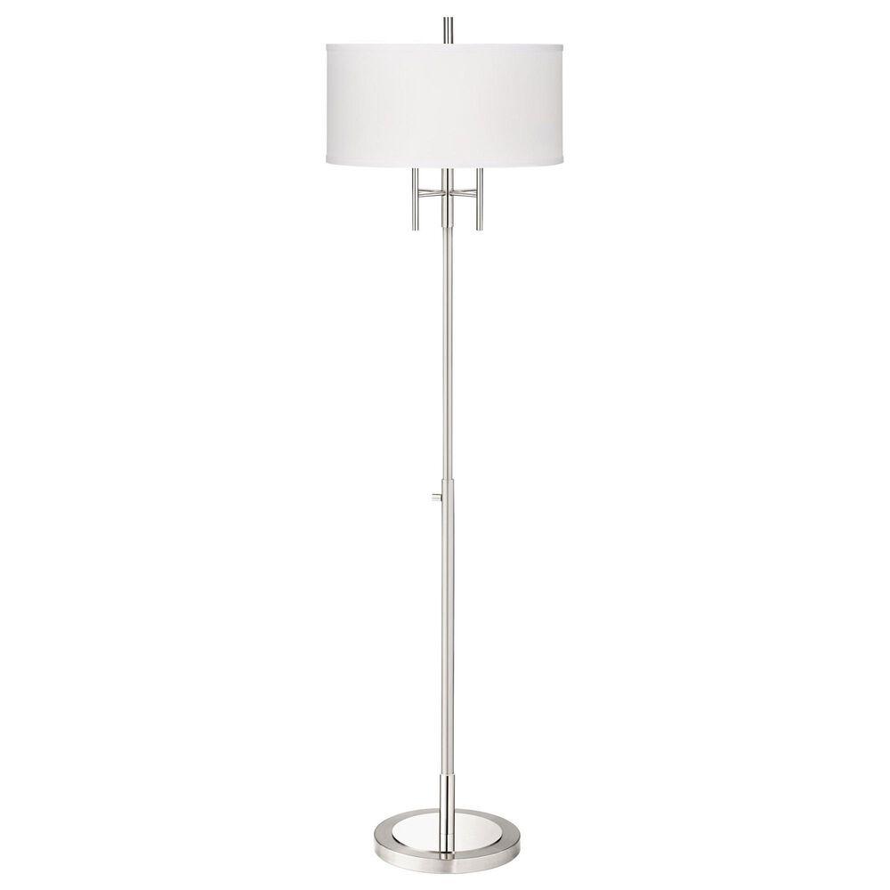 Pacific Coast Lighting Modern Classic Floor Lamp in Matt Brushed Nickel, , large