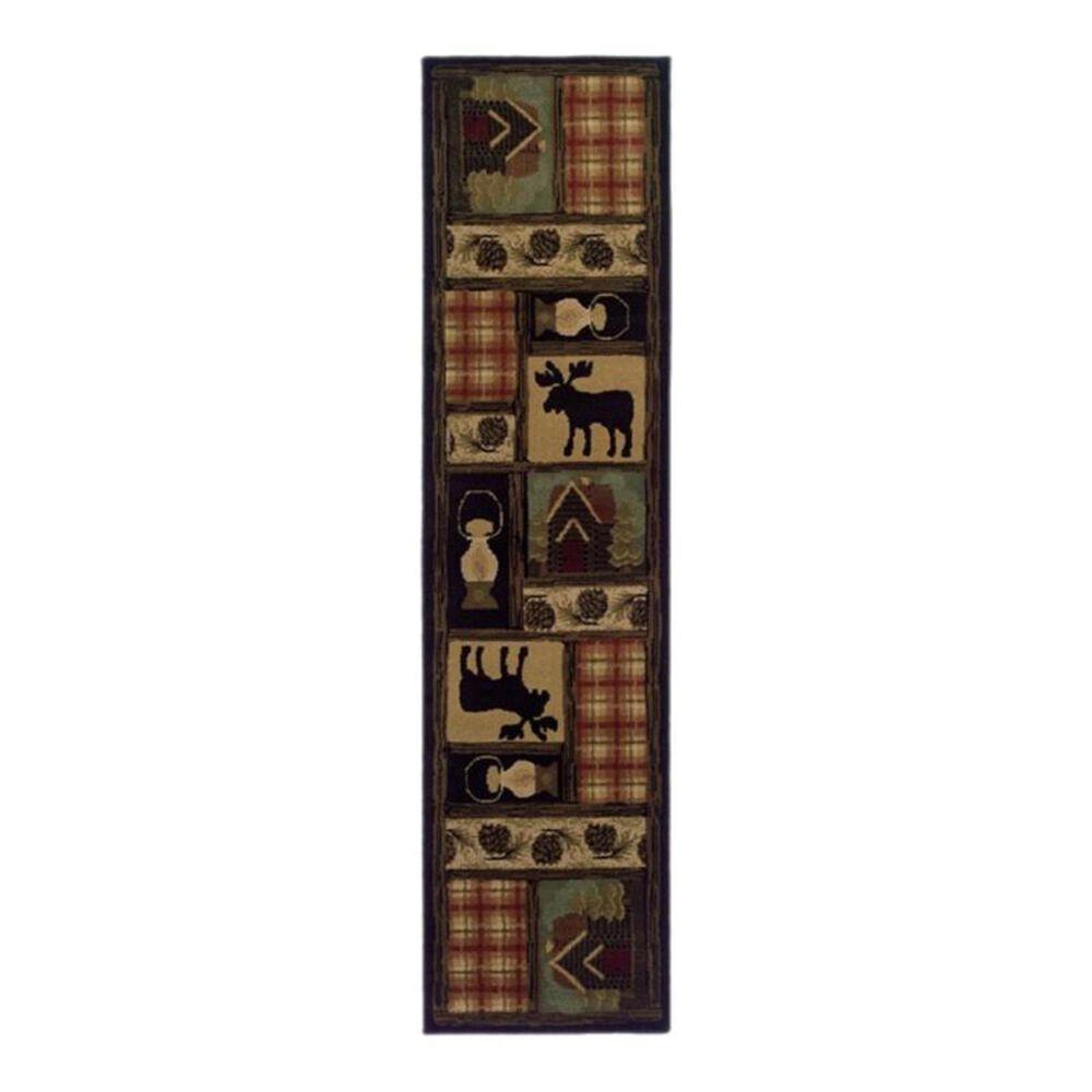 "Oriental Weavers Hudson 1067A 1'10"" x 7'6"" Brown Runner, , large"