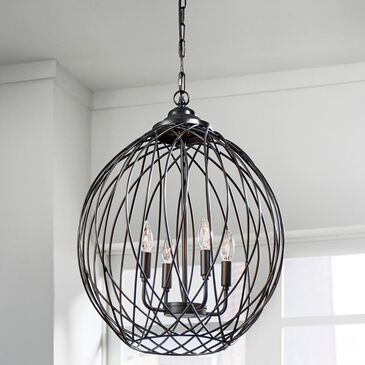 Signature Design by Ashley Maalik Metal Pendant Light in Dark Bronze, , large