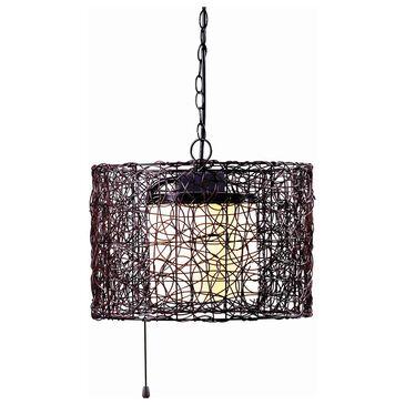 Kenroy Tanglewood 1-Light Outdoor Pendant in Black, , large