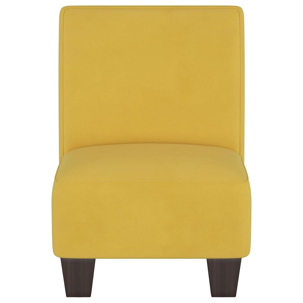Skyline Furniture Kids Chair in Velvet Canary, , large