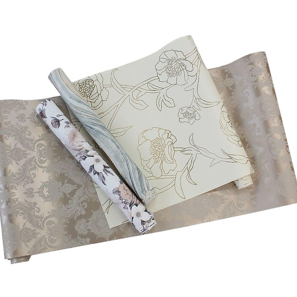 Tempaper Damsel Bisque Peel and Stick Wallpaper, , large