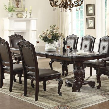 Nineteen37 Kiera Dining Table in Rich Brown - Table Only, , large