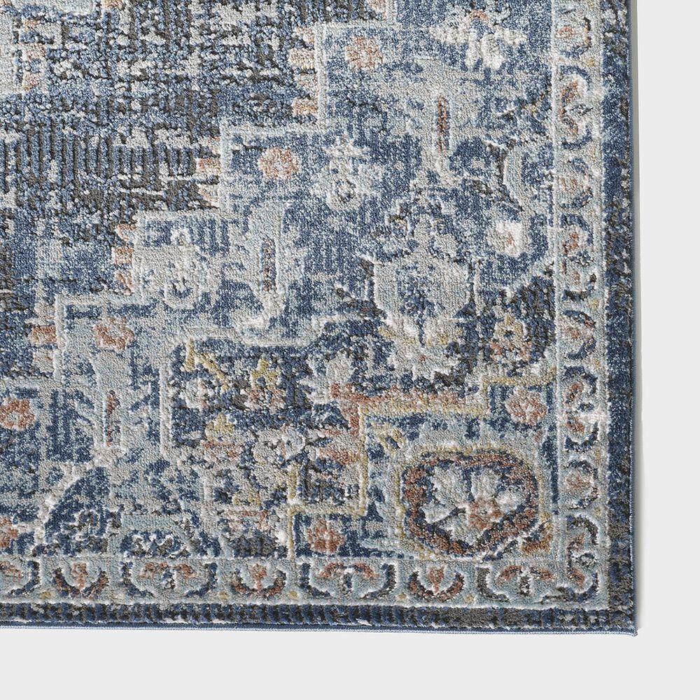 "Central Oriental Orient Dorcie 3824.218 6'7"" x 9'2"" Blue and Dark Grey Area Rug, , large"