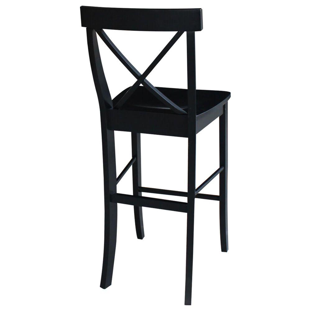 "International Concepts 30"" Barstool in Black, , large"