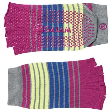Gaiam Toeless Yoga Socks in Bright Bouquet, , large