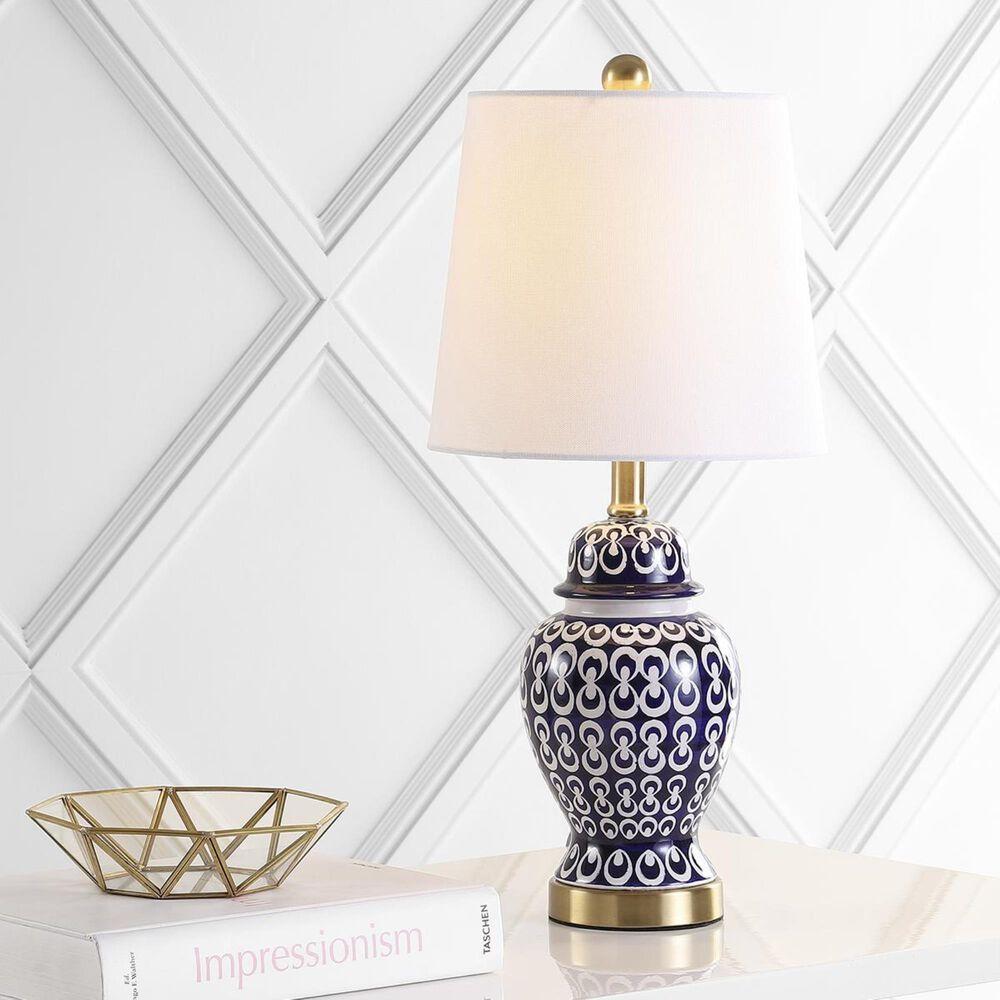 Safavieh Kyra Table Lamp in Blue/White, , large
