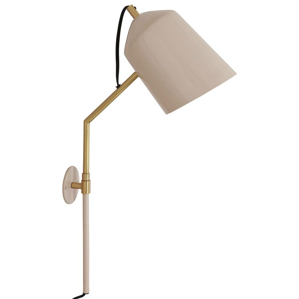 Tov Furniture Zaphire Wall Sconce in Blush and Matte Brass, , large