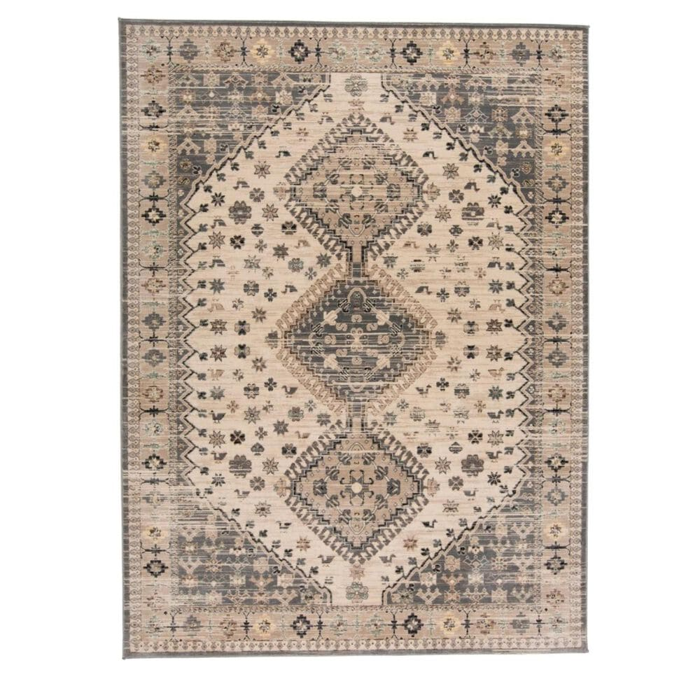 """Feizy Rugs Grayson 3577F 1""""8"""" x 2""""8"""" Beige and Gray Runner, , large"""