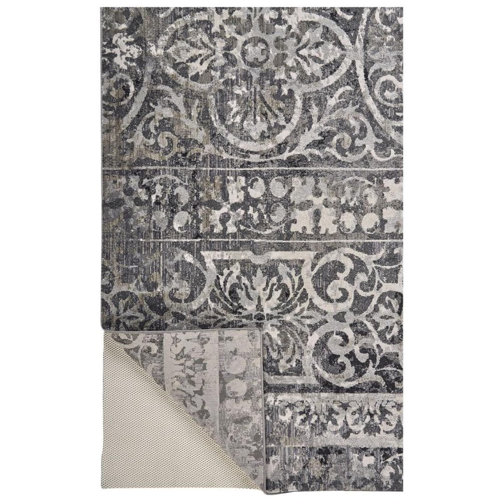 """Feizy Rugs Kano 3871F 7'10"""" x 11' Charcoal and Ivory Area Rug, , large"""
