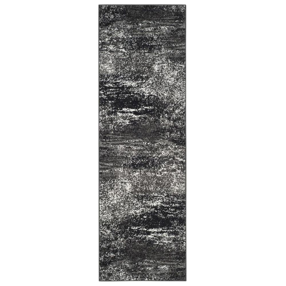 "Safavieh Adirondack ADR112A 2'6"" x 22' Silver and Black Runner, , large"