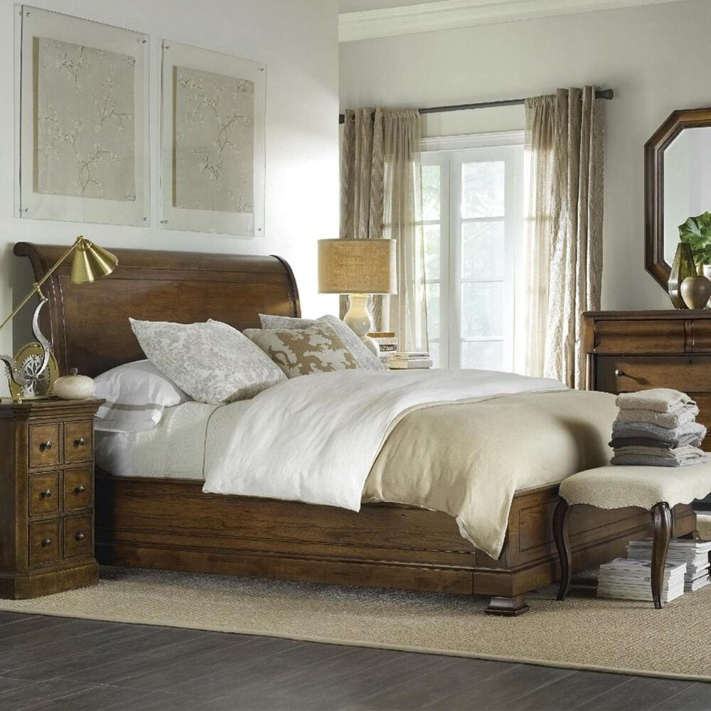 Hooker Furniture Archivist Queen Sleigh Bed in Soft Pecan, , large