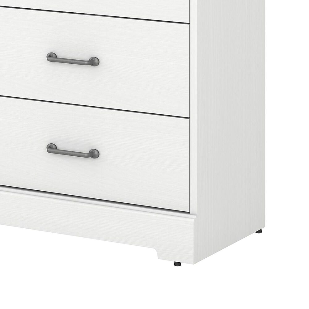 Bush River Brook Bedroom Chest of Drawers in White Suede Oak, , large