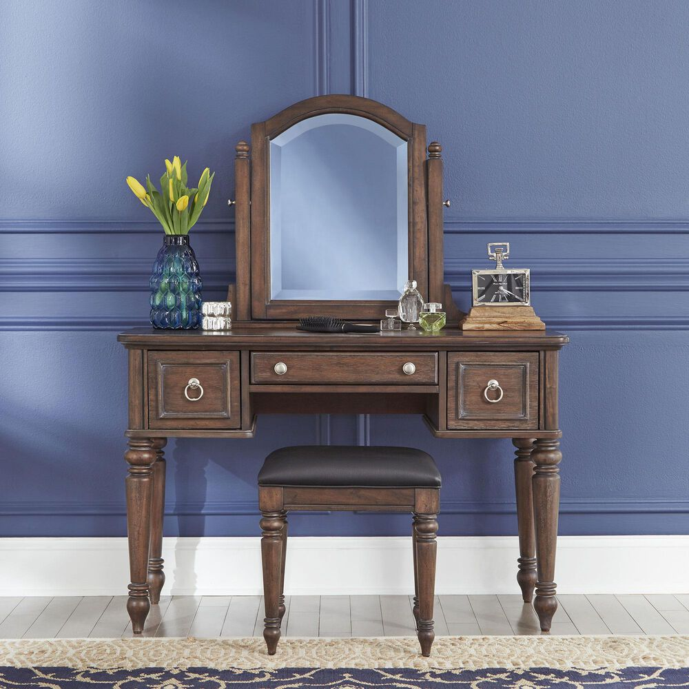 Home Styles Southport Vanity & Bench in Distressed Oak, , large