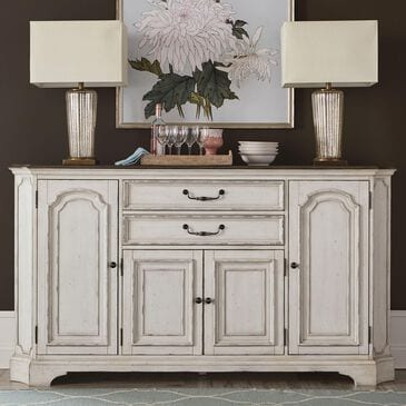 Belle Furnishings Abbey Road Hall Buffet in Antique Linen and Gray, , large