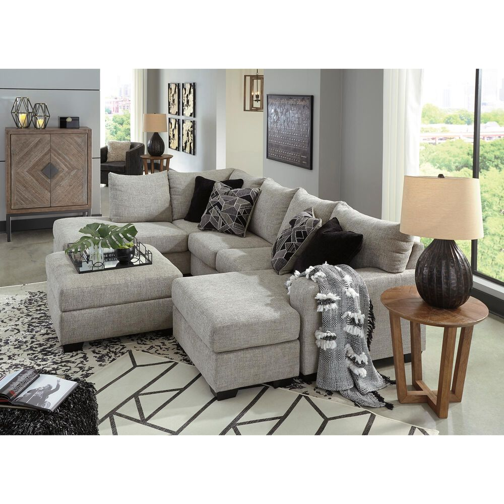 Signature Design by Ashley Megginson 3-Piece Sectional with RAF Sofa Chaise in Storm, , large