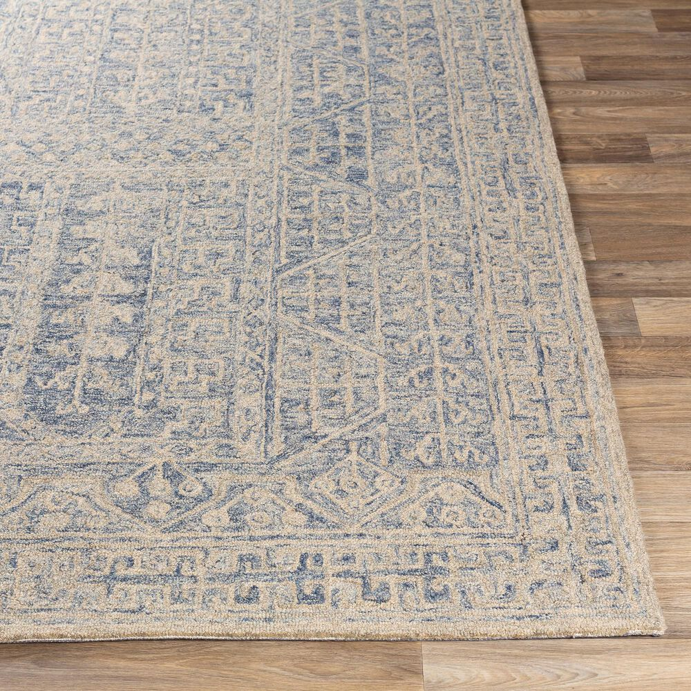 "Surya Granada GND-2318 5' x 7'6"" Dark Blue, Denim and Khaki Area Rug, , large"
