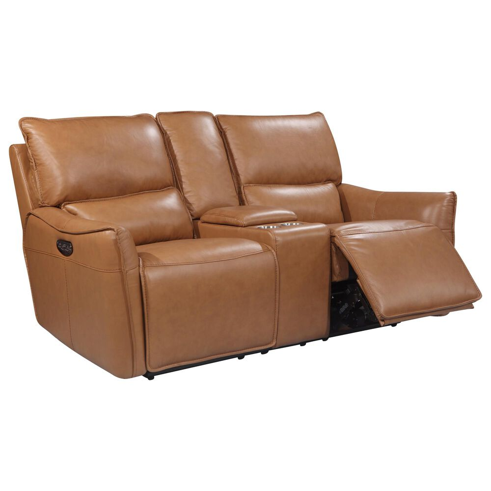 Italiano Furniture Shae Power Reclining Console Loveseat with Headrest in Desert, , large