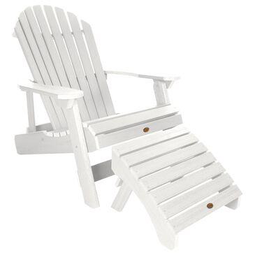Highwood USA Hamilton Adirondack Chair & Ottoman in White, , large