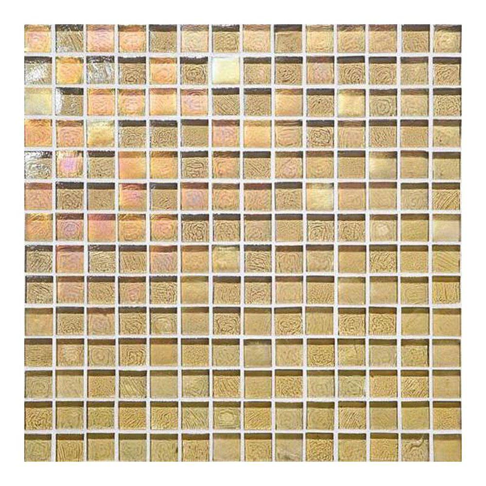 "Dal-Tile Glass Horizons Reed 12"" x 12"" Glass Mosaic Sheet, , large"