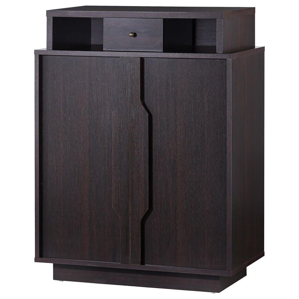Furniture of America Eaton 5-Shelf Shoe Cabinet in Espresso, , large
