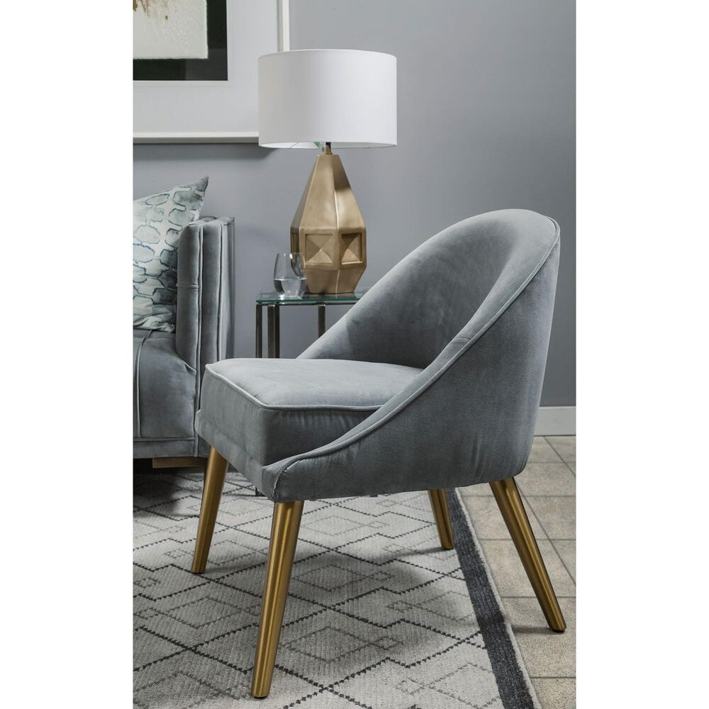 Mercana Harold II Accent Chair in Gray Velvet, , large