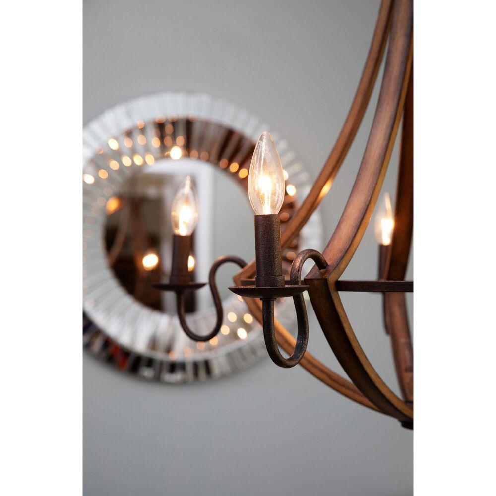 Quoizel Shire 5-Light Chandelier in Rustic Black, , large