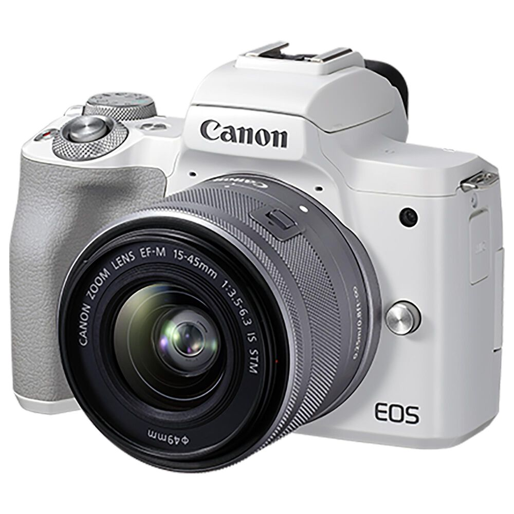 Canon EOS M50 Mark II Mirrorless Camera with EF-M 15-45mm f/3.5-6.3 IS STM in White, , large