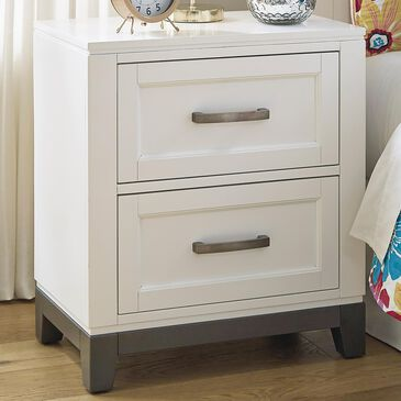 Signature Design by Ashley Brynburg 2 Drawer Nightstand in White, , large