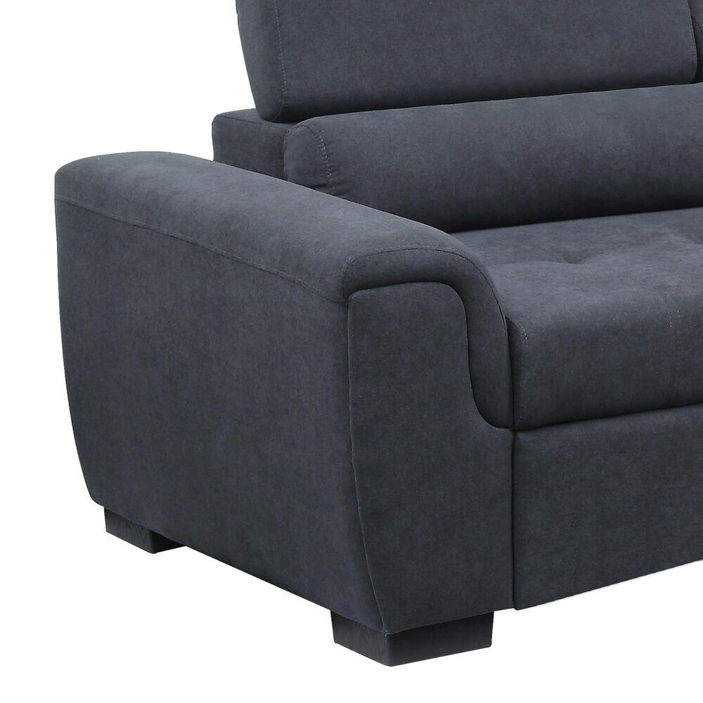 Lilola Home Haris 2-Piece Sleeper Sofa Sectional in Dark Gray, , large