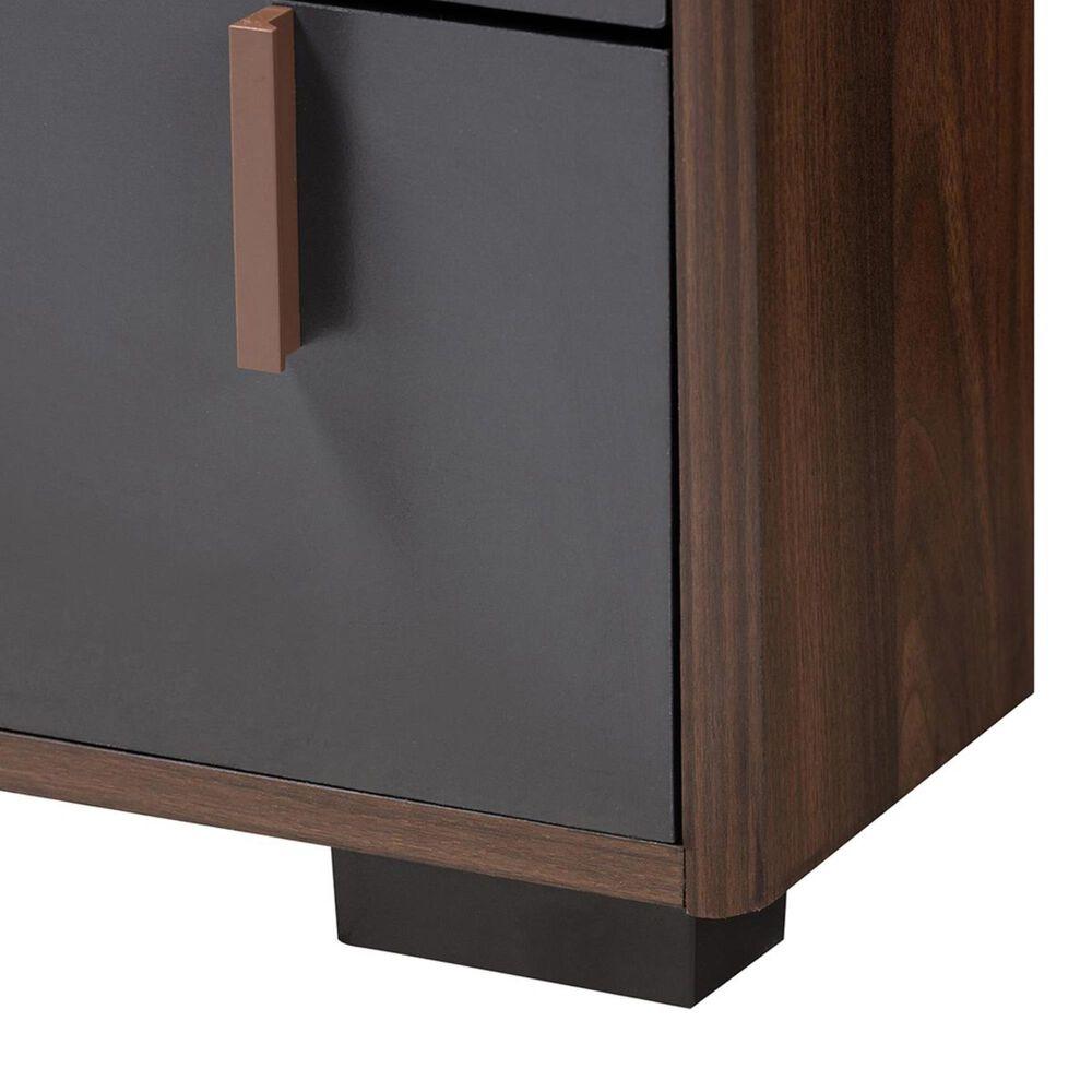 Baxton Studio Rikke 6 Drawer Dresser in Gray/Walnut, , large