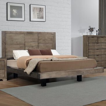 Mayberry Hill Logic Queen Platform Bed in Rustic Grey, , large