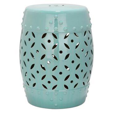 """Safavieh 18.5"""" Garden Stool in Light Blue, , large"""