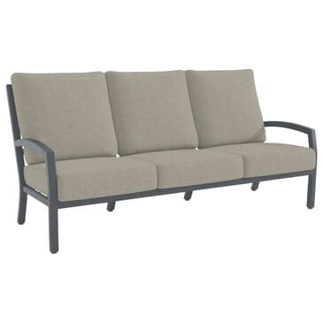 Tropitone Muirlands Stationary Sofa with Fife Lunar Cushion in Graphite, , large