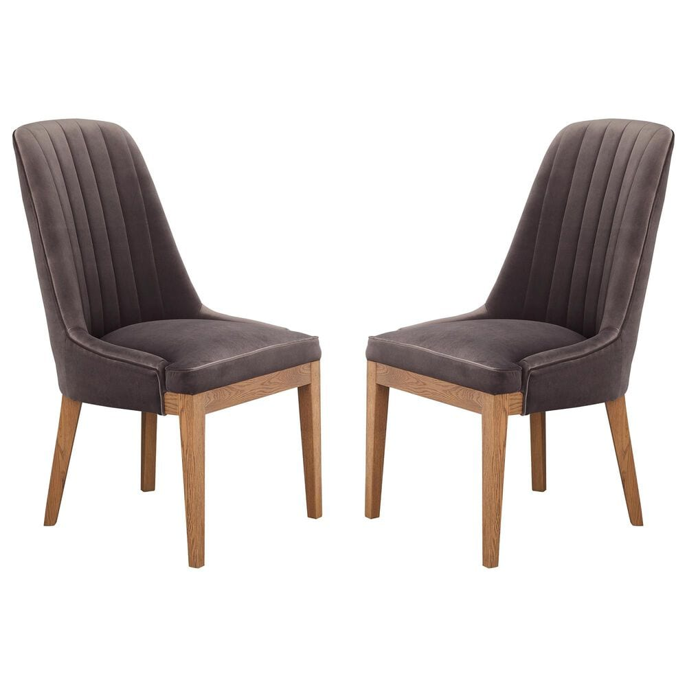 Moe's Home Collection Mia Dining Chair in Grey (Set of 2), , large