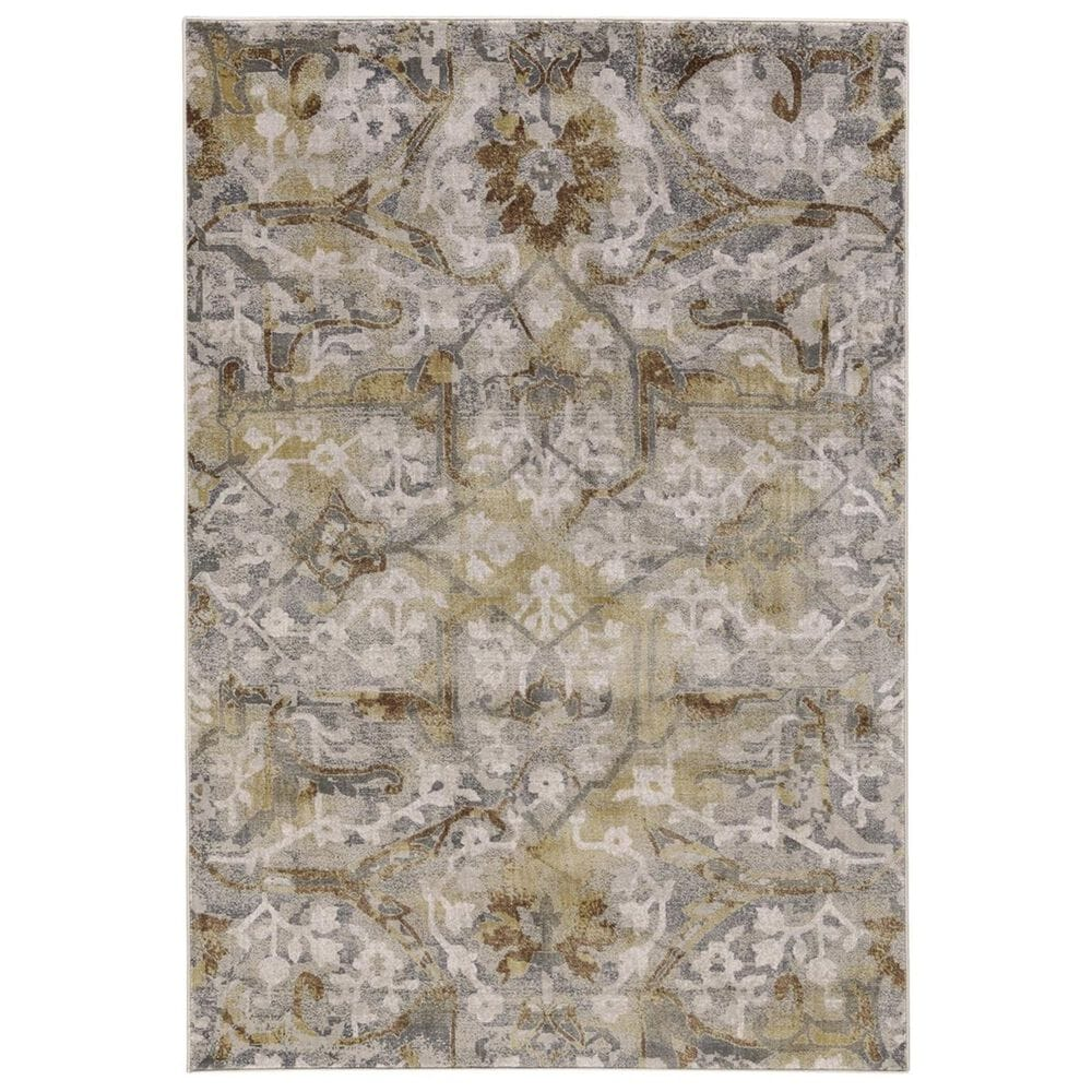 """Feizy Rugs Cannes 3685F 1'8"""" x 2'10"""" Gray and Yellow Area Rug, , large"""