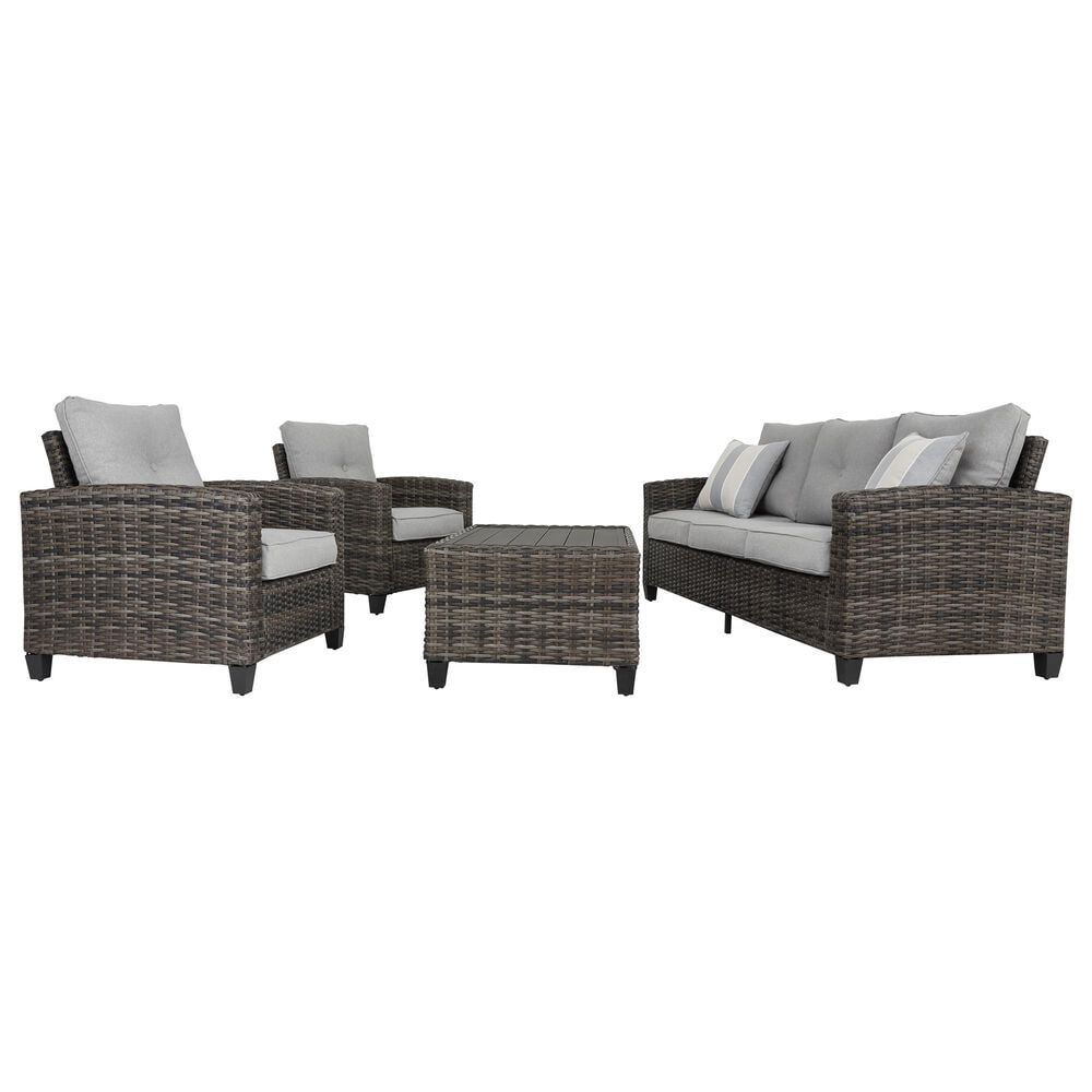 Signature Design by Ashley Cloverbrooke 4-Piece Conversation Set in Gray, , large