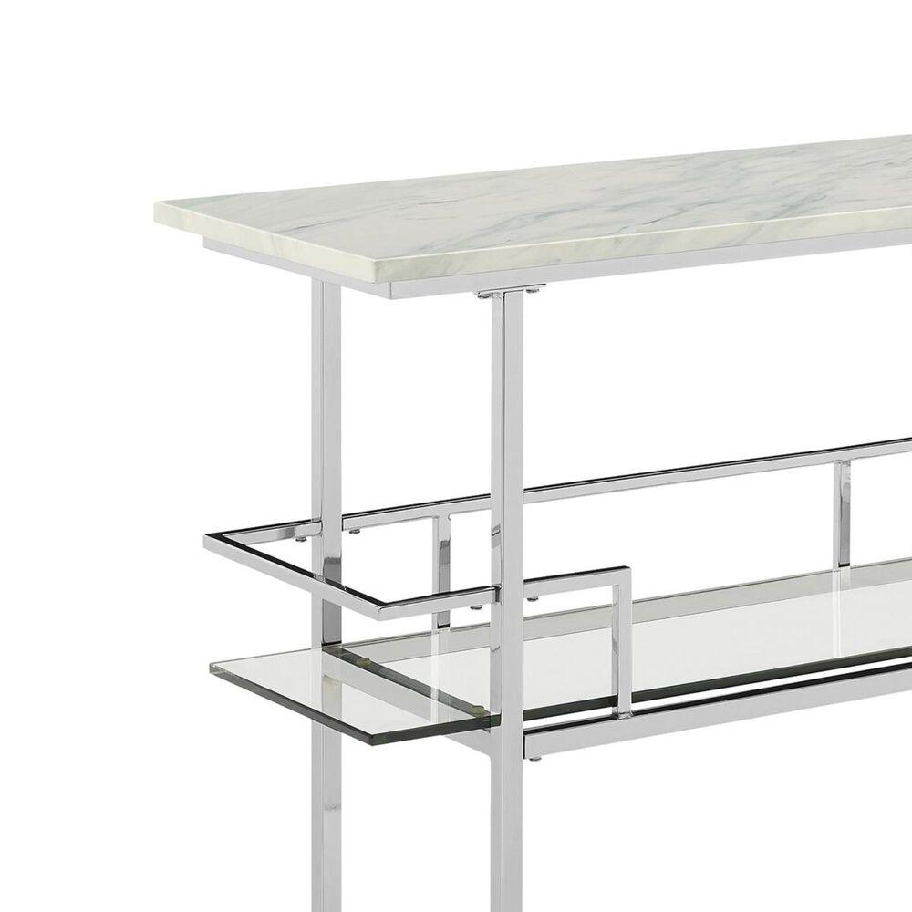 Crosley Furniture Aimee Bar in Chrome and Marble, , large