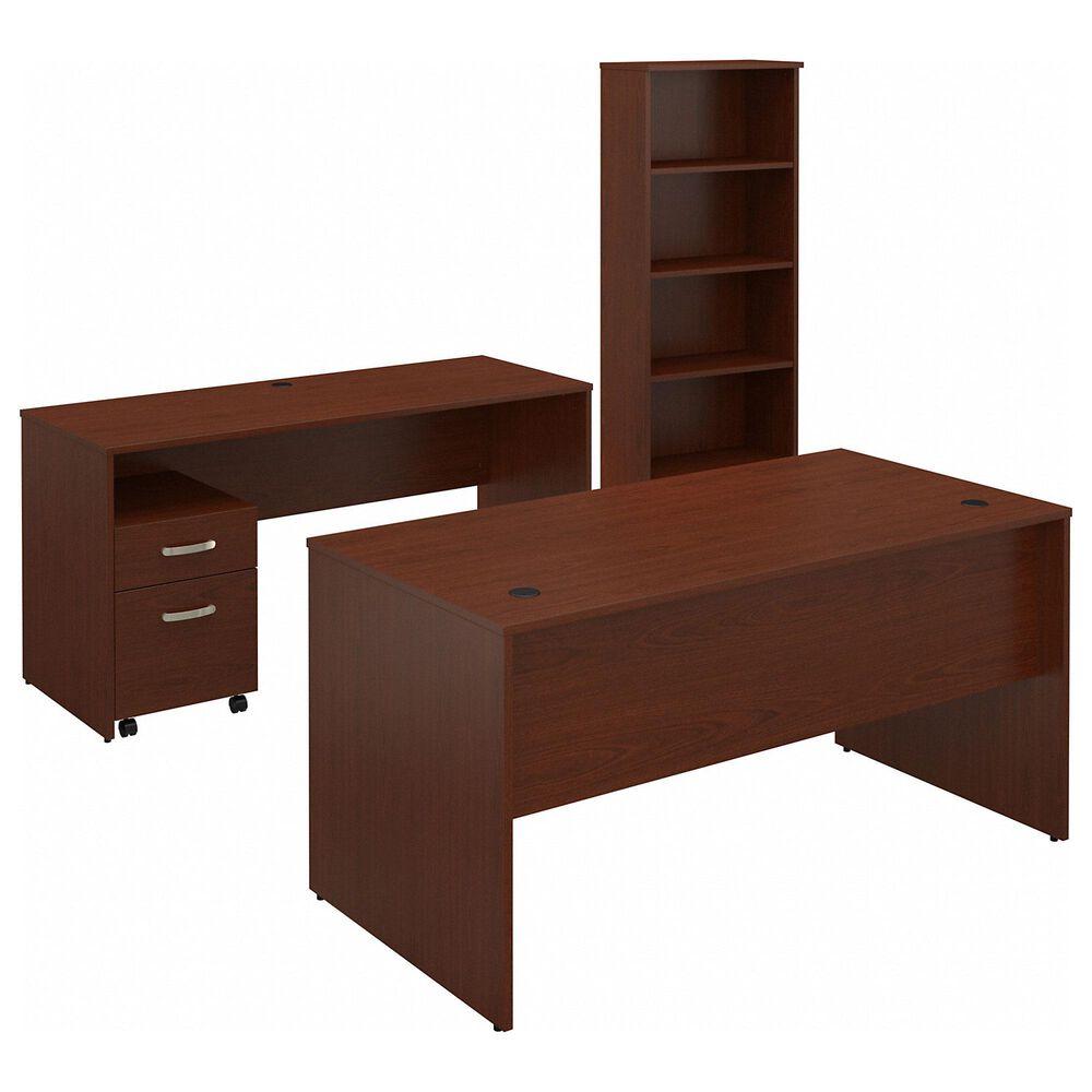 Bush 3-Piece Office Desk Set in Autumn Cherry, , large