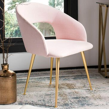 Safavieh Lorina Dining Chair in Light Pink, , large