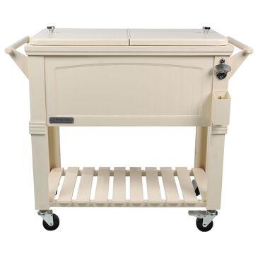 Permasteel 80 PS-203F1 Quart Portable Rolling Patio Cooler in Cream, , large