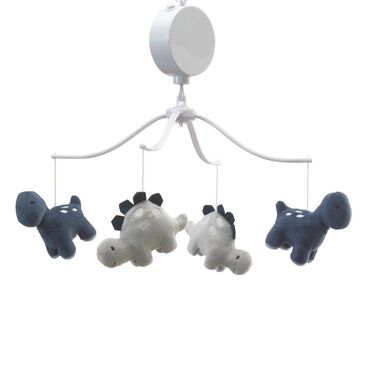 Lambs and Ivy Roar Musical Mobile in Black, Navy and Tan, , large