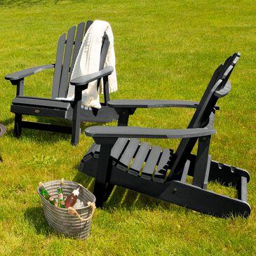 Highwood USA Hamilton Folding Adirondack Chair in Black (Set of 2), , large