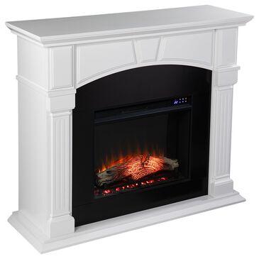 Southern Enterprises Altonette Electric Fireplace in White/Black, , large