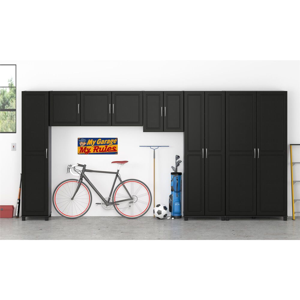 """Ameriwood Furniture Kendall 54"""" Wall Cabinet in Obsidian Black, , large"""