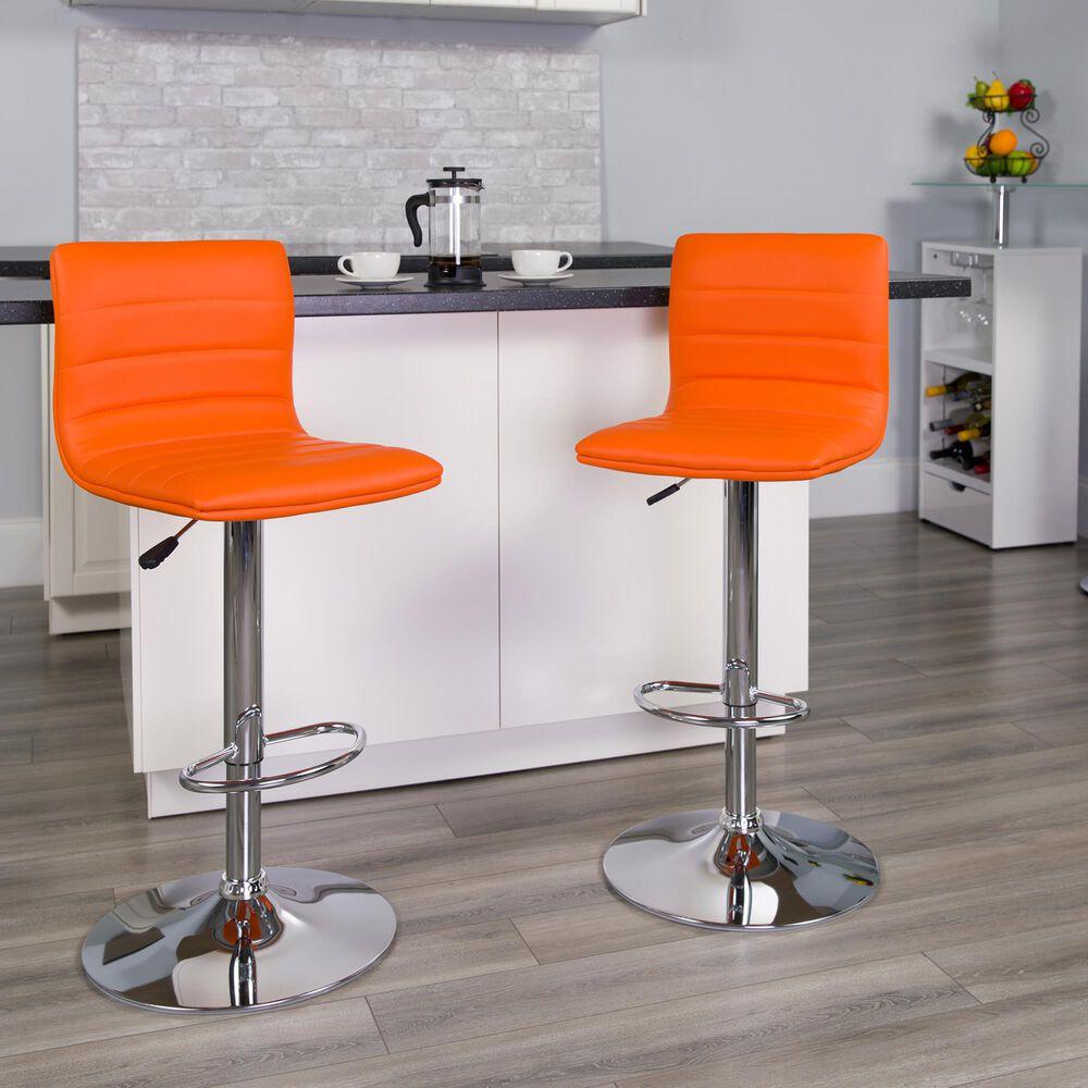Flash Furniture Adjustable Barstool in Orange, , large